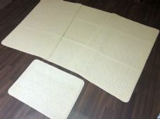 ROMANY GYPSY WASHABLES NICE NON SLIP SETS OF 4 MATS LIGHT CREAMS CHEAPEST RUGS